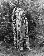 Chief Umapine, full-length portrait, 1913.  Photograph by Joseph Kossuth Dixon.