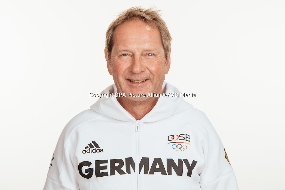 Harald Schade poses at a photocall during the preparations for the Olympic Games in Rio at the Emmich Cambrai Barracks in Hanover, Germany, taken on 18/07/16 | usage worldwide