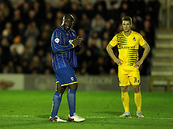 Adebayo Akinfenwa of AFC Wimbledon is substituted - Mandatory byline: Robbie Stephenson/JMP - 07966 386802 - 26/12/2015 - FOOTBALL - Kingsmeadow Stadium - Wimbledon, England - AFC Wimbledon v Bristol Rovers - Sky Bet League Two