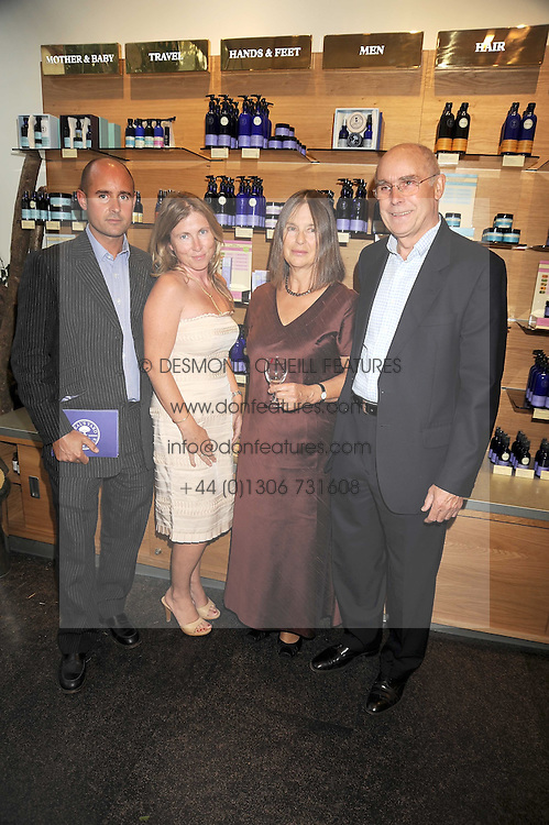 Left to right, BARNABAS & ANABEL KINDERSLEY and PETER & JULIET KINDERSLEY at the Natural Beauty Honours 2008 hosted by Neal's Yard Remedies, 124b King's Road, London SW3 on 4th September 2008.<br /> <br /> NON EXCLUSIVE - WORLD RIGHTS