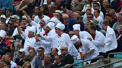 September 7, 2018 - London, Greater London, United Kingdom - Fans supporting England's Alastair Cook .during International Specsavers Test Series 5th Test match Day One  between England and India at Kia Oval  Ground, London, England on 07 Sept 2018. (Credit Image: © Action Foto Sport/NurPhoto/ZUMA Press)