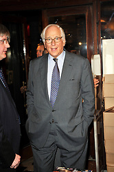 SIR EVELYN DE ROTHSCHILD at a party to celebrate the publication of Maryam Sach's novel 'Without Saying Goodbye' held at Sotheran's Bookshop, 2 Sackville Street, London on 10th November 2009.