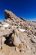 The Keeler Needles from the Mount Whitney trail, Sequoia National Park, Sierra Nevada Mountains, California USA