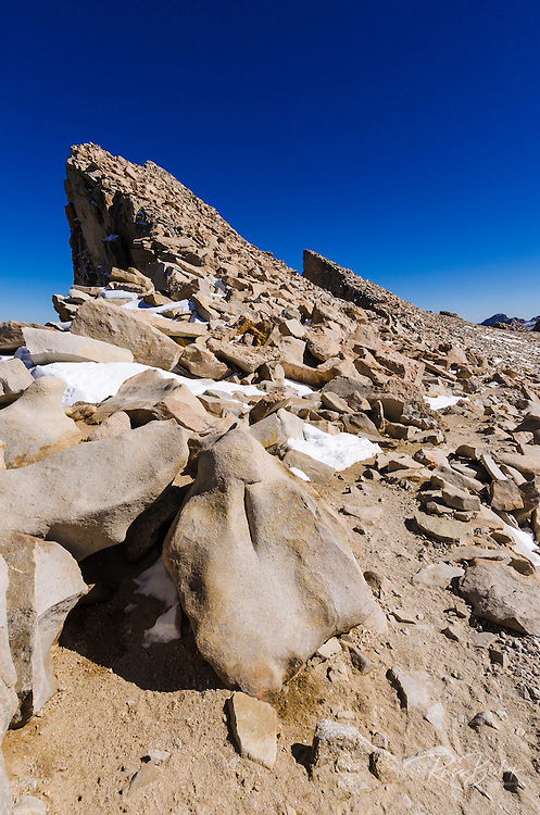 The Keeler Needles from the Mount Whitney trail, Sequoia National Park, Sierra Nevada Mountains, California USA