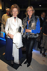 Left to right, The COUNTESS OF ARRAN and VICTORIA, COUNTESS OF NORMANTON at a lecture about a record-breaking trip by Kiting to the Centre of Antarctica by Henry Cookson, Rupert Longsdon and Rory Sweet held at the Royal Geographical Society on 31st October 2007.<br /><br />NON EXCLUSIVE - WORLD RIGHTS