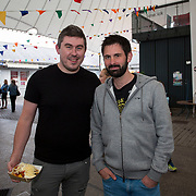 14.06.2018.             <br /> Limerick Food Group hosted the Urban Food Fest street food evening in the Milk Market on Thursday June 14th with a 'Summer Fiesta' theme in one big Limerick city summer party.<br /> <br /> Pictured at the event were, Simon McNamara and David Nolan. Picture: Alan Place