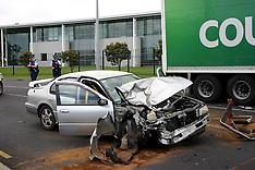 Auckland-Car crushed under truck in Otara