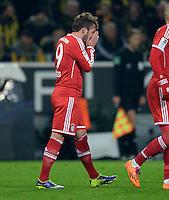FUSSBALL   1. BUNDESLIGA   SAISON 2013/2014   13. SPIELTAG Borussia Dortmund - FC Bayern Muenchen               23.11.2013 Mario Goetze (Mitte, FC Bayern Muenchen) ist nach seinem Tor zum 0:1 emotional