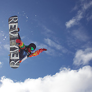 Kazuumi Fujita, Japan, crashes badly during the Men's Half Pipe Finals in the LG Snowboard FIS World Cup, during the Winter Games at Cardrona, Wanaka, New Zealand, 28th August 2011. Photo Tim Clayton...