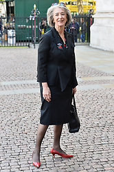 © Licensed to London News Pictures. 07/06/2017. London, UK. MAUREEN LIPMAN attends a service of Thanksgiving for the life and work of RONNIE CORBETT at Westminster Abbey. The entertainer, comedian, actor, writer, and broadcaster was best known for his long association with Ronnie Barker in the BBC television comedy sketch show The Two Ronnies. Photo credit: Ray Tang/LNP
