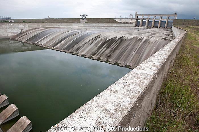 Spillway, Falcon Dam on the Rio Grande in south Texas