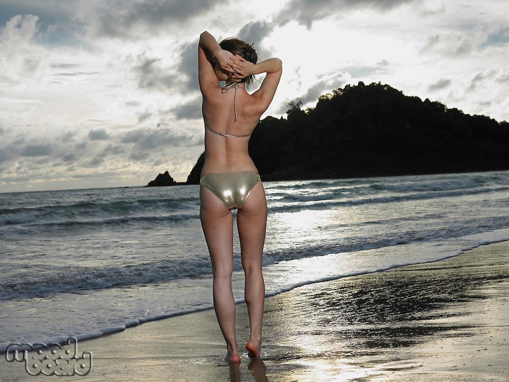 Thailand young woman in bikini on beach