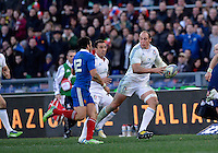 Rome, Italy -Parisse in action during Italia vs Francia race of the championship rugby SIX NATIONS played at the Olimpico in Rome.(Credit Image: © Gilberto Carbonari/).