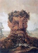 Anthropomorphic landscape Oil on Wood.  Joos or Josse de Momper the Younger (1564-1635) Flemish landscape painter.