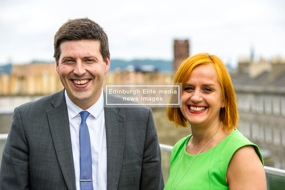 Pictured: Jamie Hepburn and Amanda Jones<br /> <br /> Employment Minister Jamie Hepburn visited Maclay Murray and Spens today as the latest unemployment figures were released. Mr Hepburn met employees who have benefited from family-friendly working policies. He was welcomed to Quatermile One by Amanda Jones, Partner and Head of Dispute, Claire Maclean (Senior Solicitor) and her three year old son Jack, and Alan Delaeny, Director<br /> of Employment, Pensions and Immigration.<br /> Ger Harley   EEm 14 June  2017