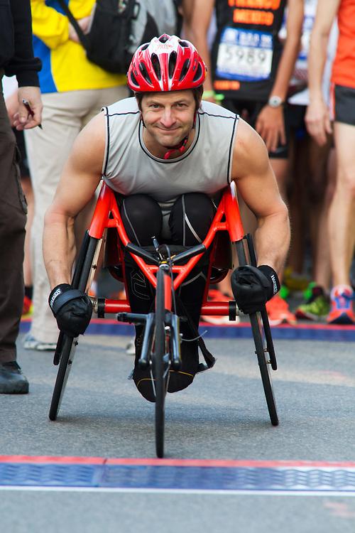 wheelchair athlete at start line