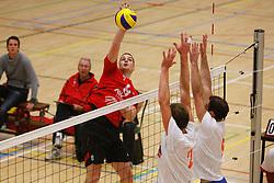 06-10-2012 VOLLEYBAL: 1STE DIVISIE KING SOFTWARE VCN - PARTICOLARE : CAPELLE AAN DEN IJSSEL<br /> Jacco Versteijnen, King Software VCN <br /> ©2012-FotoHoogendoorn.nl / Pim Waslander