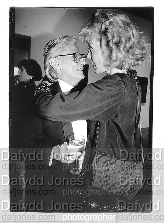Richard Avedon and Francine du Plessix Gray. Whitney Museum Fall Gala. 5 October 1992. © Copyright Photograph by Dafydd Jones 66 Stockwell Park Rd. London SW9 0DA Tel 020 7733 0108 www.dafjones.com