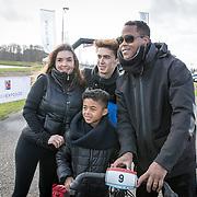 NLD/Biddinghuizen//20170305 - De Hollandse 100 - Stichting Lymph & Co 2017, Rosanna Kluivert met partner Patrick Kluivert en zonen Nino en Shane