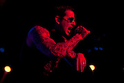 Avenged Sevenfold performing at the Verizon Wireless Amphitheater in Noblesville, IN on the Uproar Tour on Sept. 17, 2011
