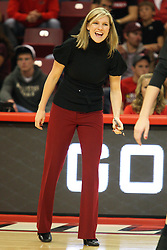 22 September 2012:  Bradley Head Coach Jenny Maurer during an NCAA womens volleyball match between the Bradley Braves and the Illinois State Redbirds at Redbird Arena in Normal IL