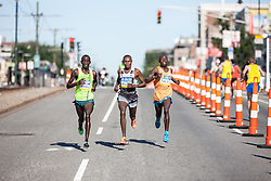 Boston Athletic Association 10K road race: past halfway race led by Geoffrey Mutai, Stephen Sambu and Daniel Salel