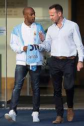 © Licensed to London News Pictures . 17/07/2015 . Manchester , UK . FABIAN DELPH leaves the Etihad Stadium after signing for Manchester City Football Club , from Aston Villa . Photo credit : Joel Goodman/LNP