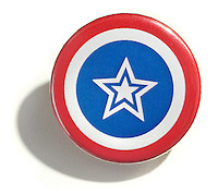 red white and blue lapel button