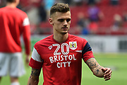 Jamie Paterson (20) of Bristol City warming up before the EFL Sky Bet Championship match between Bristol City and Hull City at Ashton Gate, Bristol, England on 21 April 2018. Picture by Graham Hunt.