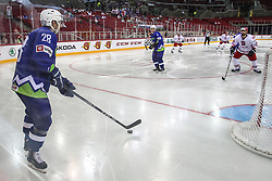 Ales Kranjc of Slovenia during Ice Hockey match between National Teams of Slovenia and Poland in Round #2 of 2018 IIHF Ice Hockey World Championship Division I Group A, on April 23, 2018 in Budapest, Hungary. Photo by David Balogh / Sportida