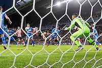 EINDHOVEN - PSV - AZ , Voetbal , Seizoen 2015/2016 , Eredivisie , Philips stadion , 29-11-2015 , AZ speler Derrick Luckassen (l) scoort een eigen doelpunt