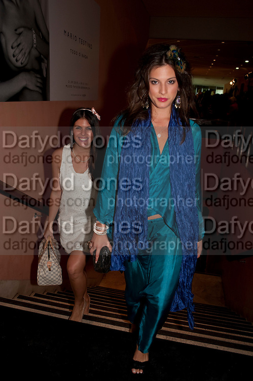 ANTONELLA CAROVOCALLE; MELINA GRIFFITHS, Mario Testino exhibition.  Hosted by Vanity Fair Spain and Lancome. Thyssen-Bornemisza Museum (Paseo del Prado 8, Madrid.20 September 2010.  -DO NOT ARCHIVE-© Copyright Photograph by Dafydd Jones. 248 Clapham Rd. London SW9 0PZ. Tel 0207 820 0771. www.dafjones.com.