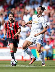 Zlatan Ibrahimovic of Manchester United in action - Rogan Thomson/JMP - 14/08/2016 - FOOTBALL - Vitality Stadium - Bournemouth, England - Bournemouth v Manchester United - Premier League Opening Weekend.