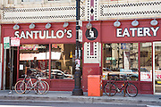 Santullo's Eatery and restaurant in Wicker Park in Chicago, Illinois, USA.