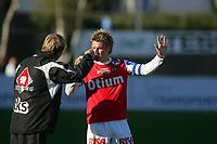Fotball - Bryne Stadion<br />Adecco ligaen  2007 - <br />29..04.2007  -<br />Bryne - Sparta Sarpsborg<br />Foto: Sigbjørn Andreas Hofsmo, Digitalsport <br /><br />Kai Ove Stokkeland - Bryne<br />Magnus Johansson - bryne trener