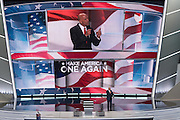 Tom Barrack, CEO of Colony Capital addresses delegates on the final day of the Republican National Convention July 21, 2016 in Cleveland, Ohio.