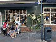 Shoppers, Bicester Village. 26 August 2016