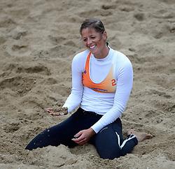 16-08-2014 NED: NK Beachvolleybal 2014, Scheveningen<br /> Nienke de Waard