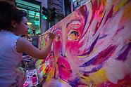 L'artista giapponese Silsil decora un jersey a Palermo