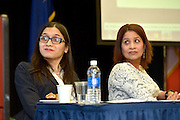 Queens College panel discussion: Women, Technology and Internet Culture, 3/16/15. Speakers Katherine Cross and Anitha Raj.