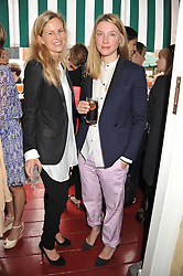 Left to right, ALANNAH WESTON and the COUNTESS OF BURLINGTON at a lunch to celebrate the the Lulu & Co Autumn/Winter 2011 collection held at Harry's Bar, 26 South Audley Street, London W1 on 21st June 2011.