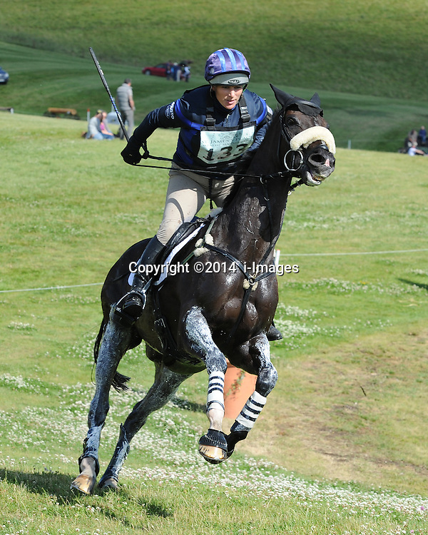 Image ©Licensed to i-Images Picture Agency. 06/07/2014. Barbury, United Kingdom. Day 4. Zara Phillips on Black Tuxedo. Picture by  i-Images
