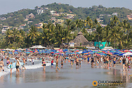 Main public beach in Sayulita, Mexico
