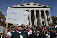 People participate in the Comedy Central March in Washington DC  on October 30, 2010.  Photograph by Dennis Brack
