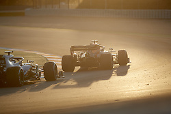 February 26, 2019 - Spain - Valtteri Bottas (Mercedes AMG Petronas Motosport) W10 car and Pierre Gasly (Aston Martin Red Bull Racing) RD15 car, are seen in action during the winter testing days at the Circuit de Catalunya in Montmelo  (Credit Image: © Fernando Pidal/SOPA Images via ZUMA Wire)