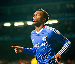 23.11.2010, Stamford Bridge, London, ENG, UEFA CL, Chelsea FC vs MSK Zilina, im Bild Chelsea's forward Daniel Sturridge celebrates scoring during the UEFA Champions League group stage match between Chelsea FC from England and MSK Zilina from Slovakia, played at Stamford Bridge Chelsea London UK, EXPA Pictures © 2010, PhotoCredit: EXPA/ M. Gunn