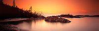 Richard Furhoff_999001_PicRock.tif  .Pic Rock Harbour at Sunset, Pukaskwa National Park, Ontario, Canada..