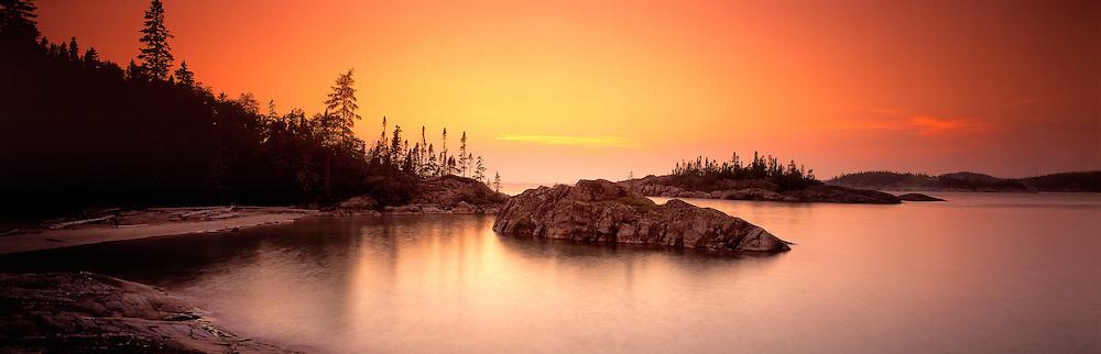 Richard Furhoff_999001_PicRock.tif  .Pic Rock Harbour at Sunset, Pukaskwa National Park, Ontario, Canada..