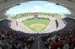June 29, 2008; Kansas City, MO, USA; A sold out crown for the game between the Kansas City Royals and St. Louis Cardinals at Kauffman Stadium. Mandatory Credit: Denny Medley-US PRESSWIRE