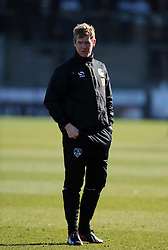 Oldham Athletic Manager, Dean Holden - Photo mandatory by-line: Harry Trump/JMP - Mobile: 07966 386802 - 07/03/15 - SPORT - Football - Sky Bet League One - Yeovil Town v Oldham Athletic - Huish Park, Yeovil, England.